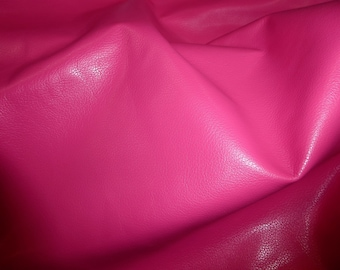 """Leather 12""""x20"""" or 10""""x24"""" or 15""""x15"""" DIVINE Hot Pink / Fuchsia Cowhide fine grained 2-2.5 oz / .8-1 mm PeggySueAlso™ E2885-34"""
