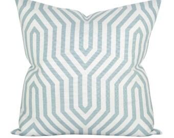 Vanderbilt Print pillow cover in Mineral