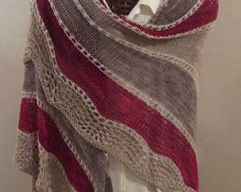 CRANBERRY Bog Eyeleted Shawl