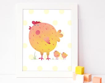 cute nursery print - kids art print - instant download nursery art - animal nursery decor - children's printable poster - diy digital print