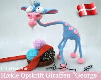 005DK Giraffen George - Amigurumi Hækle Opskrift - PDF af Astashova Etsy