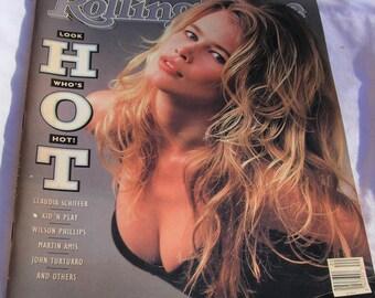 Rolling Stone Magazine May 17, 1990 Claudia Schiffer, Wilson Phillips