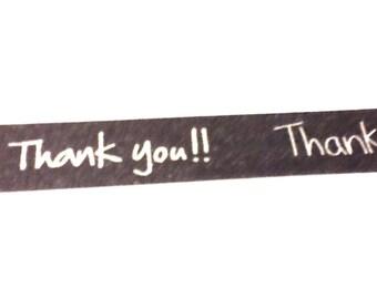 Thanks You Washi Tape, Washi Tape, Thank You, Planner Tape, Planner Washi Tape, Scrapbook Supplies, Smash Book Supplies, Card Making