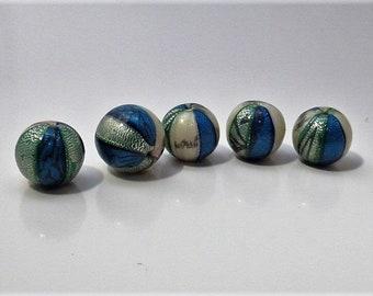Polymer Clay Beads, Round Beads, Bead Set, Jewellery Making