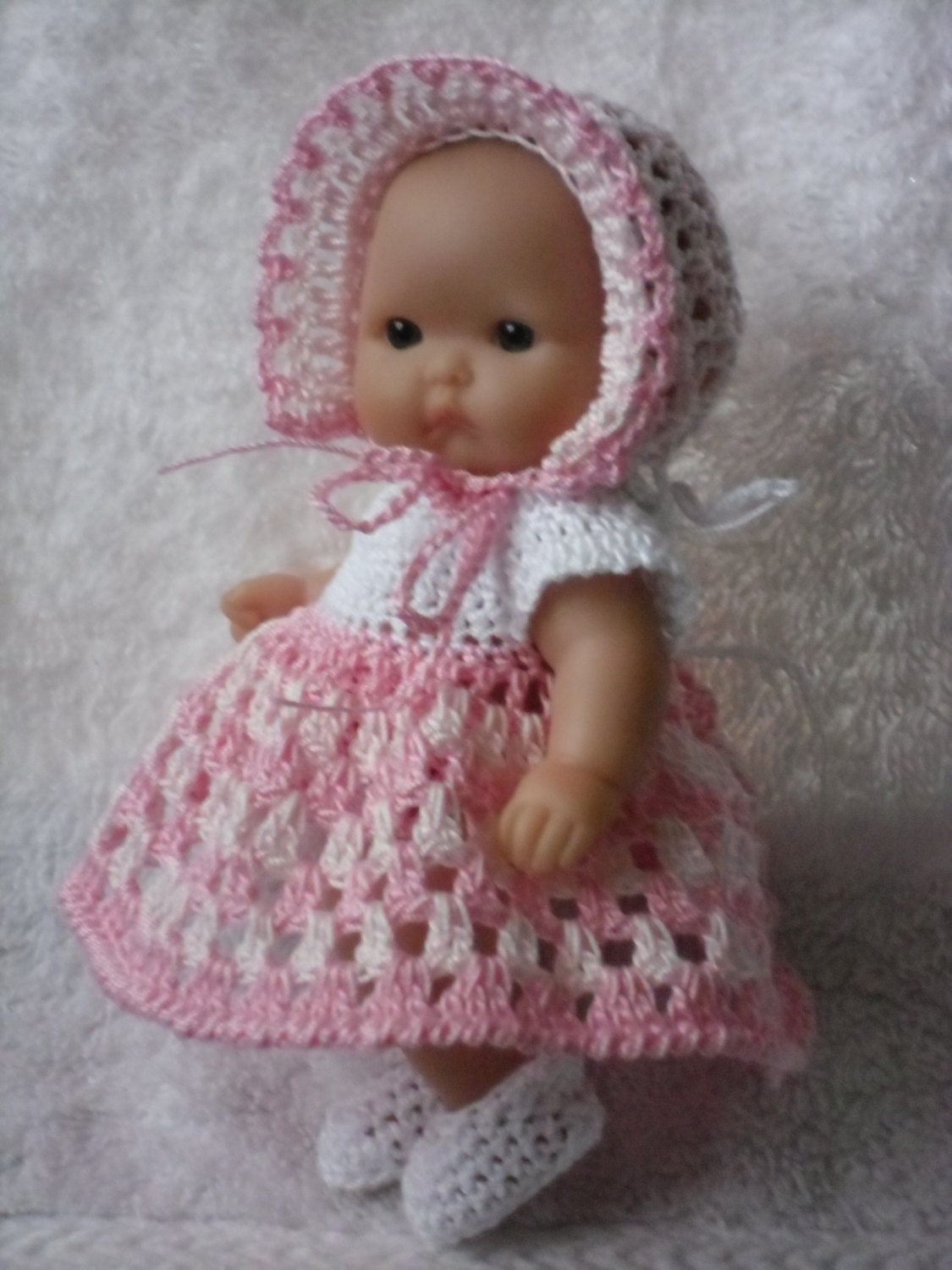 Crochet pattern for berenguer 5 inch baby doll dress zoom dt1010fo