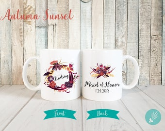 Personalized Maid of Honor Gift Mug, Maid of Honor Mug, Maid of Honor Proposal Mug, Bridal Party Gifts Personalized Mug, More Colors Sizes