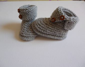 wool baby boots booties
