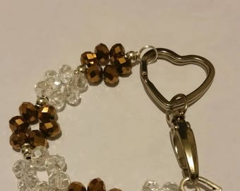 Religious Christian Jewelry Cross Heart keychain Religious Jewelry Christian Bling  KRGD01