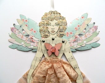Angel Paper Doll/ Fairy Paper Doll/ Jointed Angel Doll/ Fairy Decoration/ Angel Ornament/  Paper Art Doll/ Jointed Paper Doll/ Angel Decor