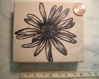 large flower rubber stamp un-mounted or mounted scrapbooking rubber stamping