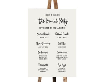Bridal Party Sign | PRINTABLE { Mischief } Wedding party sign | Introducing the wedding party | Wedding sign | Custom sign