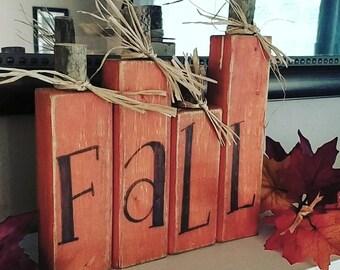 Wood pumpkins, Fall decor, block pumpkins, pumpkin decor, wood signs, fall signs, pumpkin centerpiece, fall pumpkins, harvest decor, pumpkin