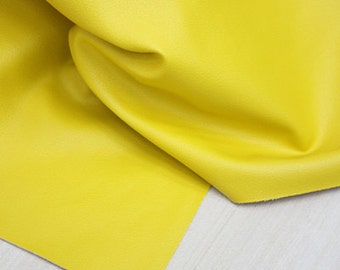 Yellow Leather Fabric One cut, U2723