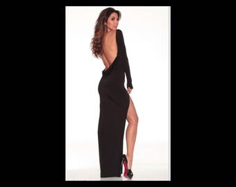 Long Classic backless dress/ gown