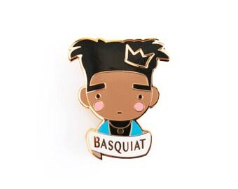 Basquiat Jean-Michel brooch Pin Badge enamel