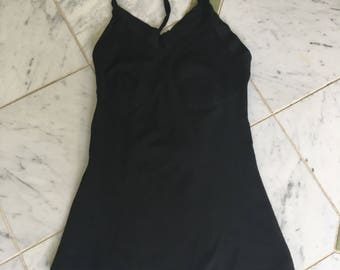 Vintage Black italian wool 40s swimsuit