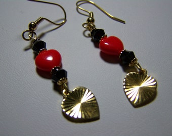 Be Mine-Red Heart Dangles - 2 1/4inch-Cuties
