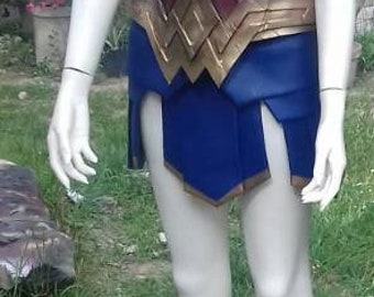 Wonder Woman  ispired costume cosplay ( bodice and skirt)