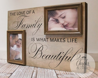 The Love Of A Family Is What Makes Life Beautiful Frame, Personalized Picture Frame, Family Frame