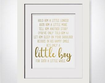 Hold Him A Little Longer|Poem For Godson Baptism Gift Godson|Gift From Aunt|Unique Baptism Gift For New Mom Gift Ideas|New Mom Gift Basket