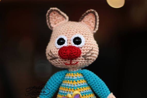 Crochet Pattern Cat Olga The Corporate Cat Amigurumi Crochet Cat