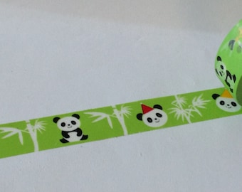 """SALE Washi Tape """"Party Panda""""  15mm x 10 Meters"""