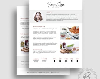 Press Kit Template 06 -  2 Page Press Kit Template - Ad Rate Sheet Template - Pitch kit - Media Kit Template