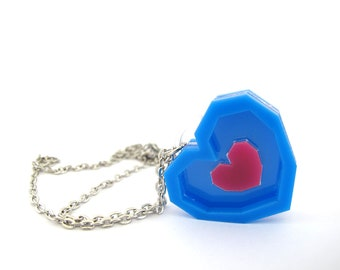 Zelda piece of heart acrylic necklace