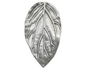 2 Elven Leaf 1 and 7/16 inch ( 36 mm ) Pewter Metal Buttons
