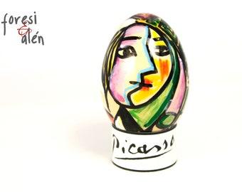 Pablo Picasso, Girl before a mirror, 0eufs d'Art, Chicken Egg, art egg, hand painted egg, Easter egg, art gift, Easter gift, OOAK only one!!