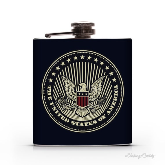 The United States of America - 6oz or 8oz Whiskey Hip Flask