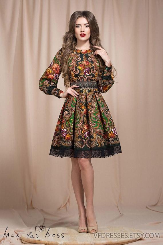 Grüne Sommerkleid Floral Boho Kleid floral Zigeuner Kleid