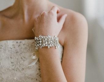 Bridal Cuff | Bridal Bracelet | Crystal Bridal Bracelet | Rhinestone Bridal Cuff | Crystal Bridal Cuff | Charlotte Bridal Cuff
