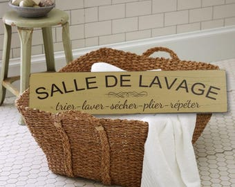 Laundry room sign / deco laundry room wood sign / laundry wood sign / rustic chic / handmade in Quebec.