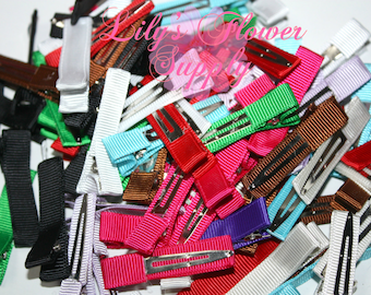 Grab Bag Lined Clips - Partially Lined Clips - Alligator Hair Clips - Choose Quantity - Single Prong - 45 mm