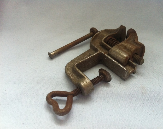 Antique Miniature Tool vise watchmaker or other #7