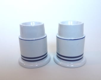 Vintage Ceramic Dansk Candleholders designed by Niels Refsgaard set of 2