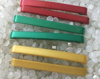 Vintage barrettes,  vintage children barrette, straight colorful barrette, simplistic style