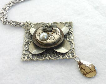 Eco Chic--Recycled Silver Pendant  SN318