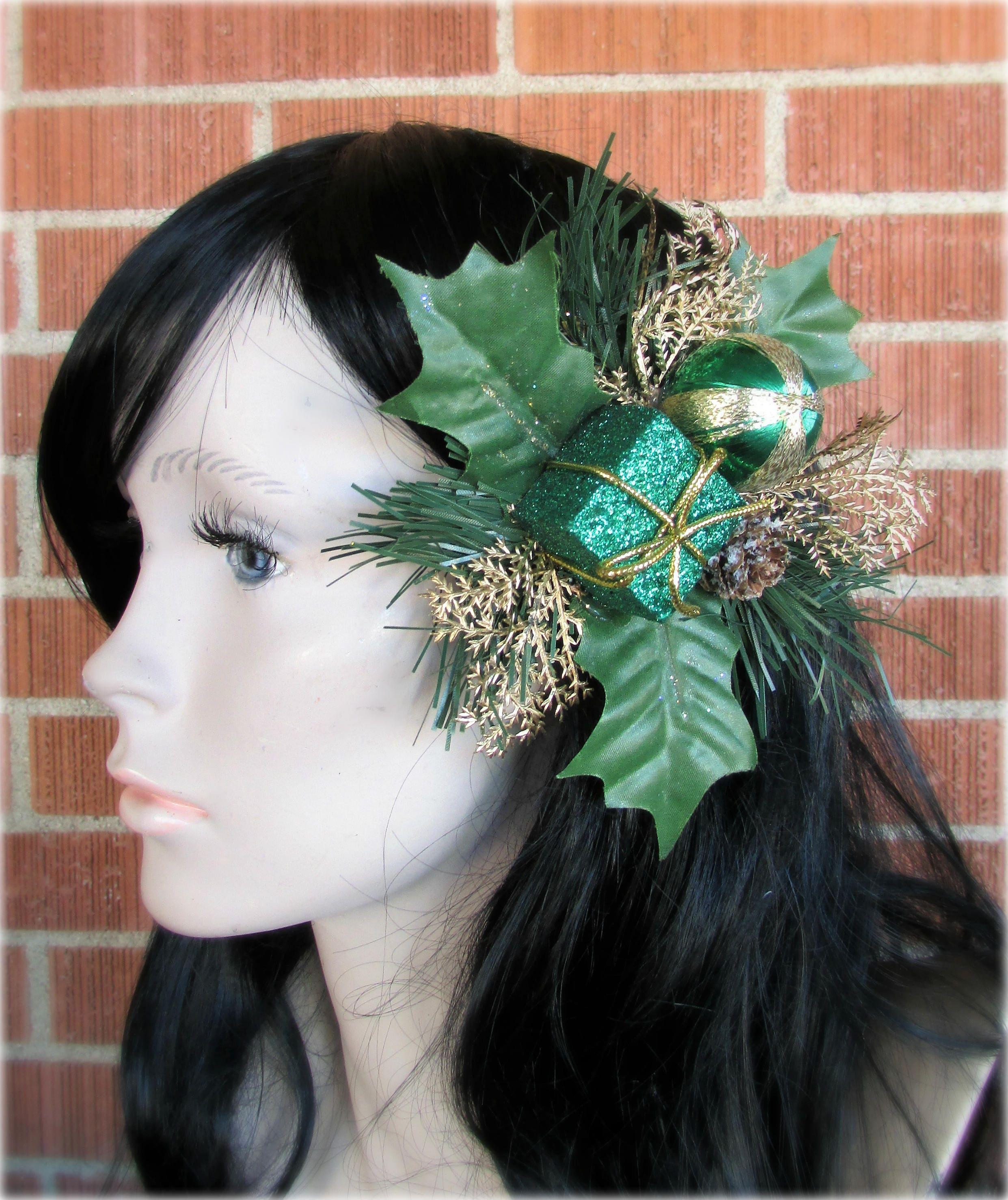Holiday Hair Piece, Holiday Hair Clip, Christmas