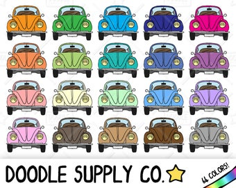 64 VW Beetle Clipart, VW Bug Clipart, Bug Car Clipart, Bug Car Sticker, Retro Car, Vintage Care, Car Love Bug, Sticker Clipart, png file