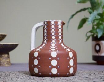 Midcentury Modern Scandinavian Studio Ceramic Pitcher / Vase by Ioska, Denmark