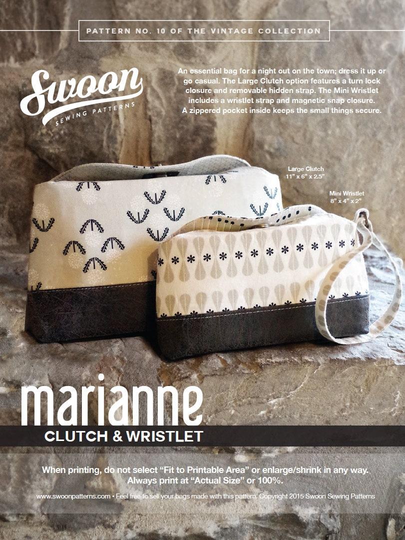 Swoon patterns marianne clutch wristlet pdf vintage purse this is a digital file jeuxipadfo Gallery
