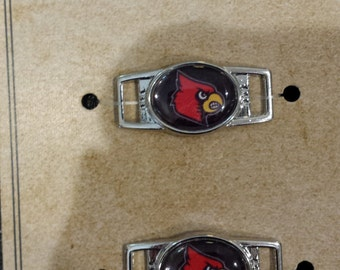 University of Louisville Cardinals Shoelace Charms and Paracord Bracelet