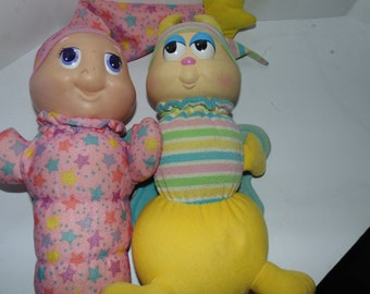 Vintage 1988 1984 Globug Gloworm Butterfly Stars Cute 80s Plush Playskool