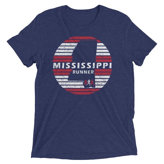Men's Mississippi Runner Triblend T-Shirt - Run Mississippi - Men's Short Sleeve Running Shirt