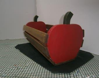 wood apple basket