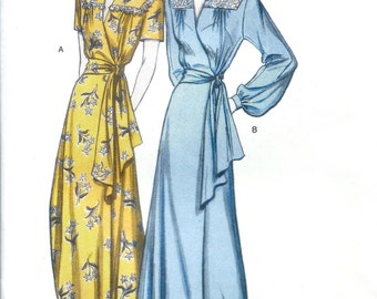 Butterick 5152 Retro 48' Misses Robe and Belt Sewing Pattern UNCUT