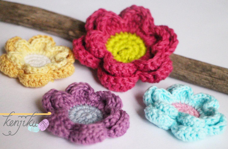6 petals flower,flower brooch,flower hairclip,flower home decor ...
