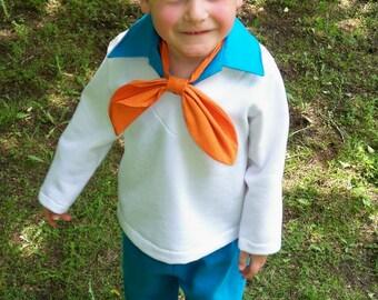 Fred Jones Costume - Custom Boys Costumes, Boys Fred Jones Costume, Scooby Doo, Family Costume Ideas, Kids Freddie Costume, Group Costumes